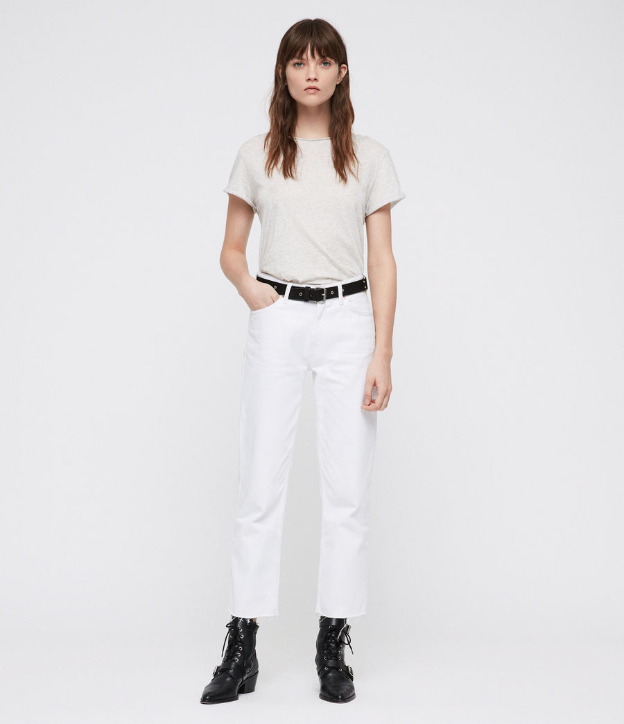 Donne Ava Straight Jeans (white) - Image 1
