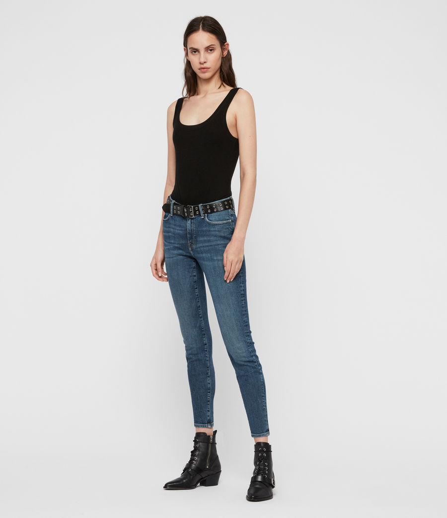 Womens Grace Mid-Rise Skinny Jeans, Vintage Indigo Blue (vintage_indigo_blu) - Image 3