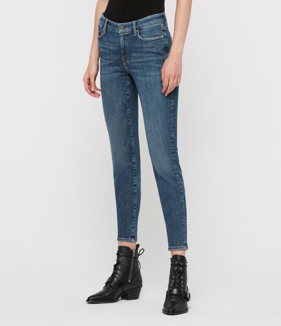 Womens Grace Mid-Rise Skinny Jeans, Vintage Indigo Blue (vintage_indigo_blu) - Image 4