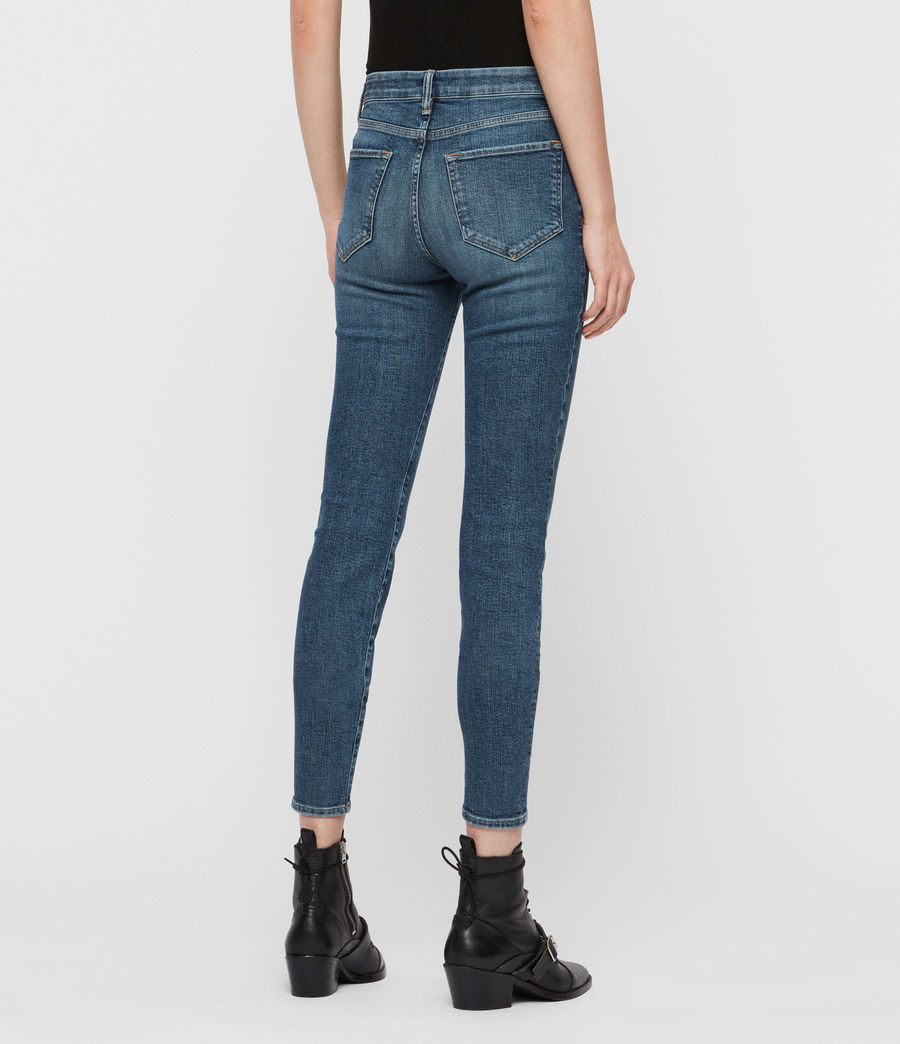 Womens Grace Mid-Rise Skinny Jeans, Vintage Indigo Blue (vintage_indigo_blu) - Image 5