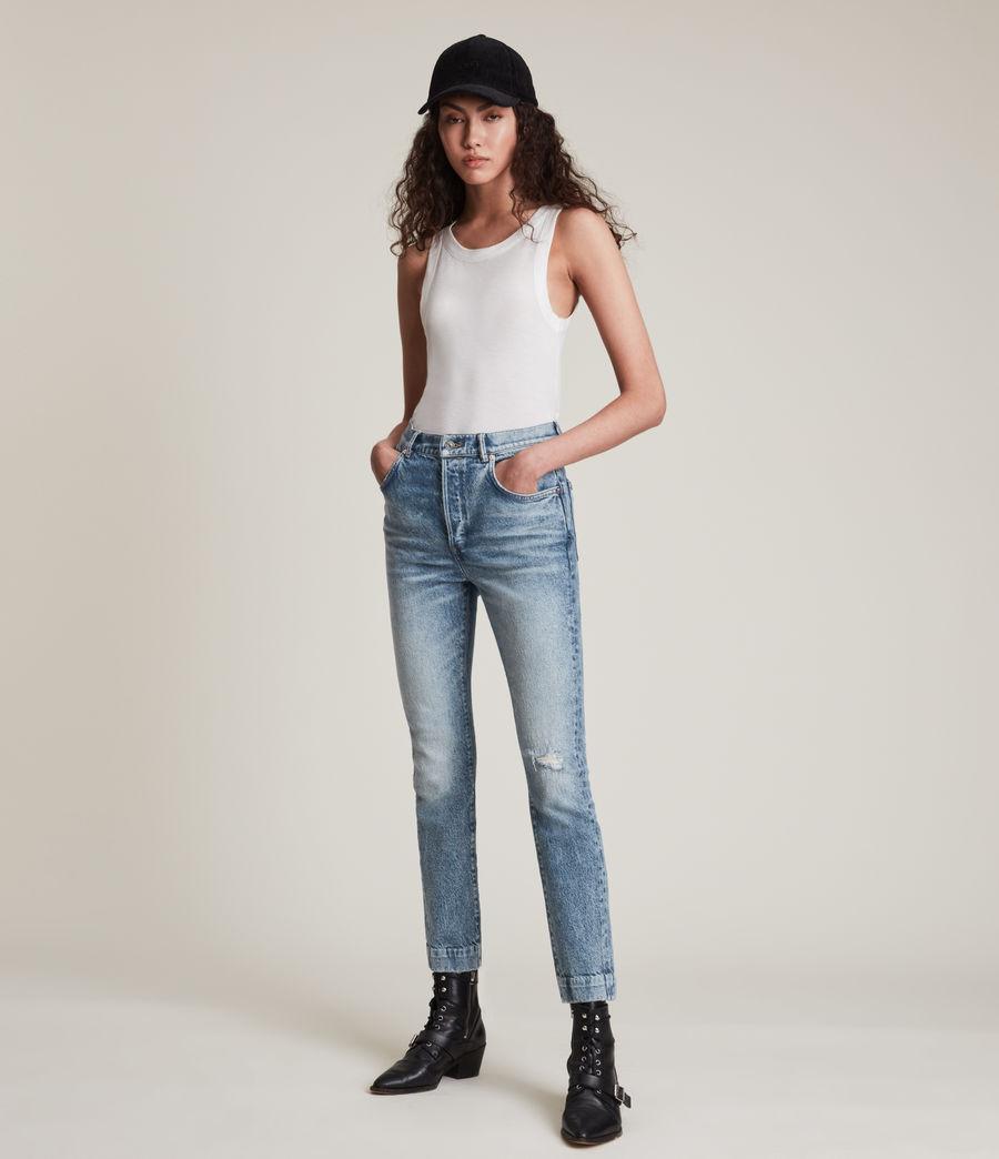 Womens Zoe High-Rise Stretch Slim Jeans, Light Indigo (light_indigo) - Image 1