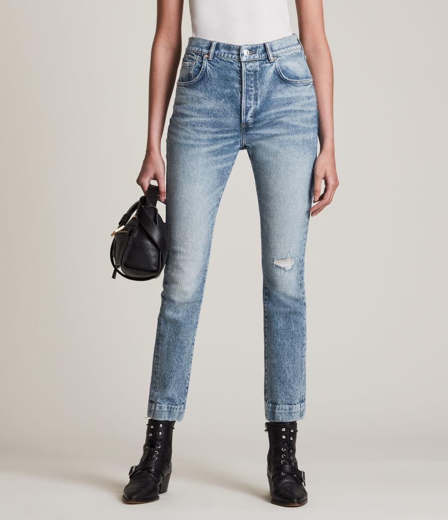 Womens Zoe High-Rise Stretch Slim Jeans, Light Indigo (light_indigo) - Image 2