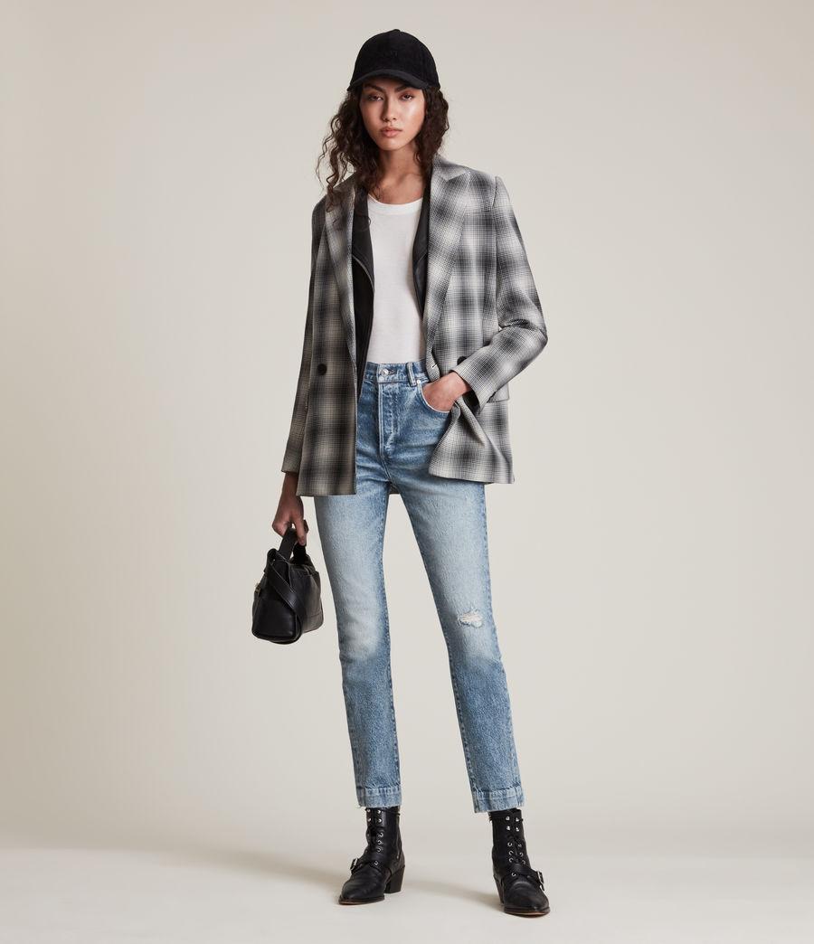 Womens Zoe High-Rise Stretch Slim Jeans, Light Indigo (light_indigo) - Image 3