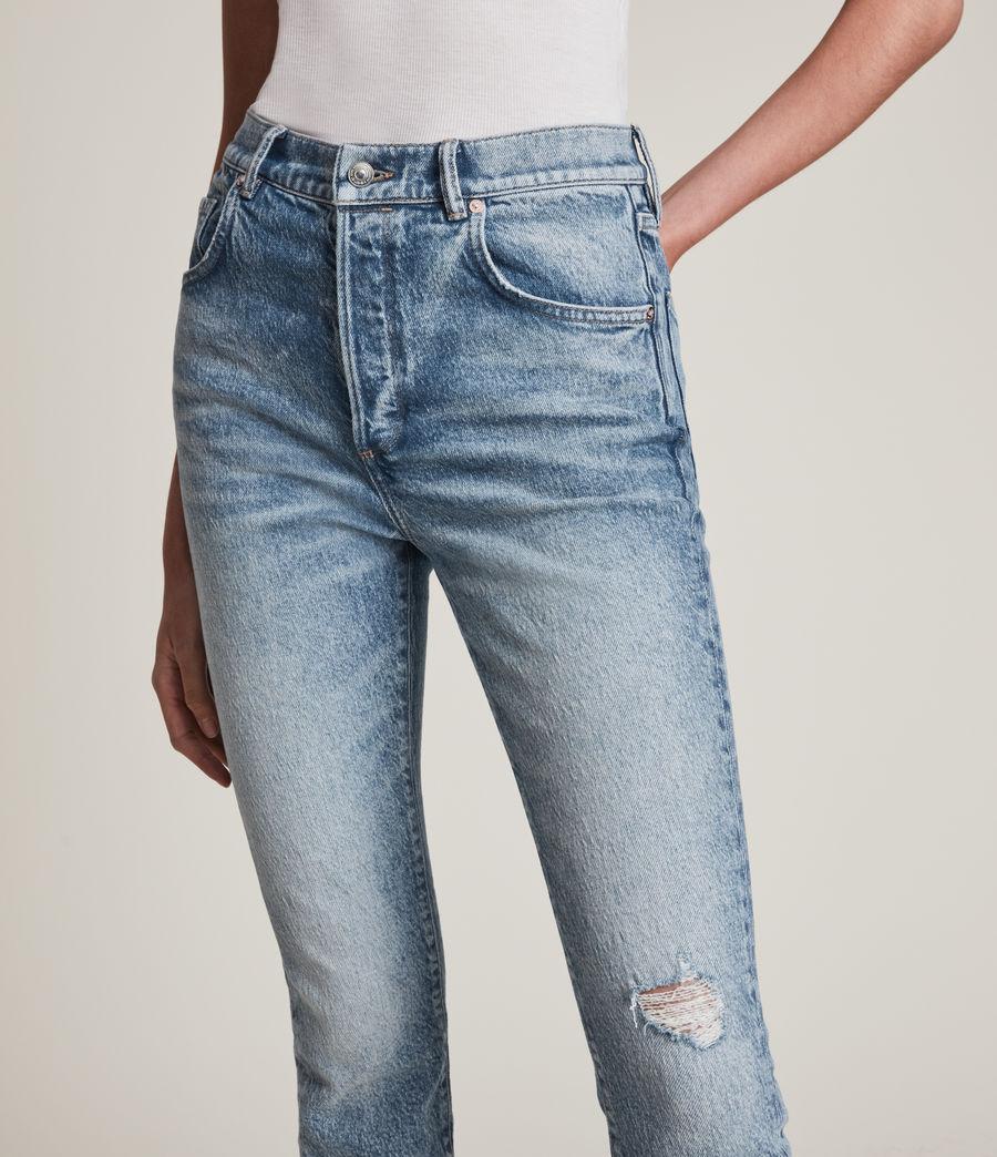 Womens Zoe High-Rise Stretch Slim Jeans, Light Indigo (light_indigo) - Image 4
