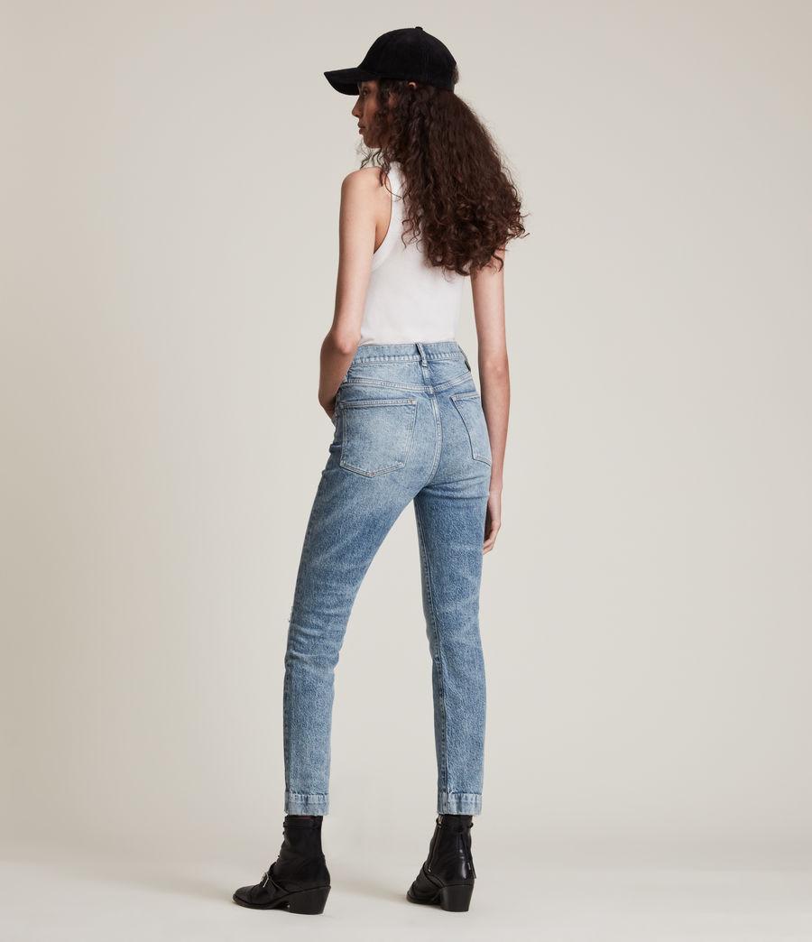 Womens Zoe High-Rise Stretch Slim Jeans, Light Indigo (light_indigo) - Image 5