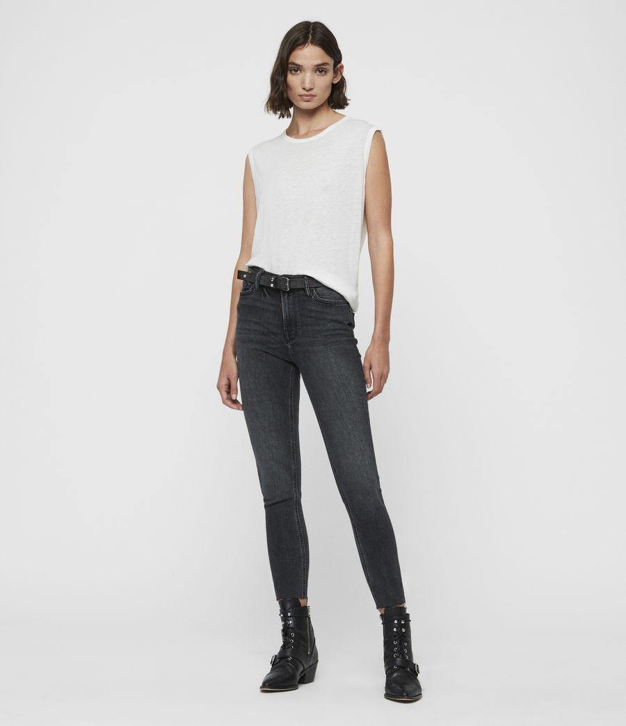 Womens Roxanne Cropped High-Rise Skinny Jean, Washed Black (washed_black) - Image 3