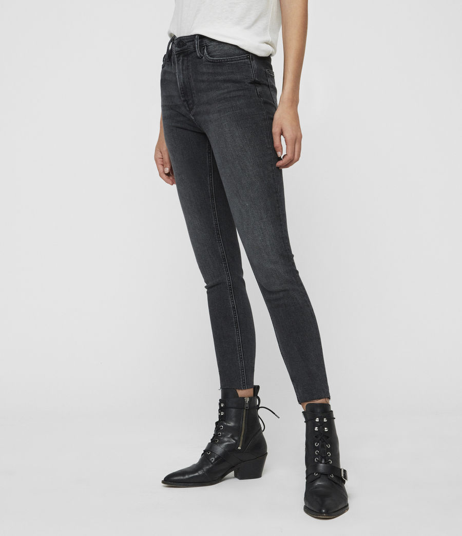 Womens Roxanne Cropped High-Rise Skinny Jean, Washed Black (washed_black) - Image 4