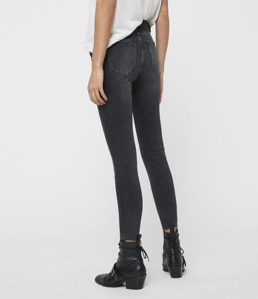 Womens Roxanne Cropped High-Rise Skinny Jean, Washed Black (washed_black) - Image 5