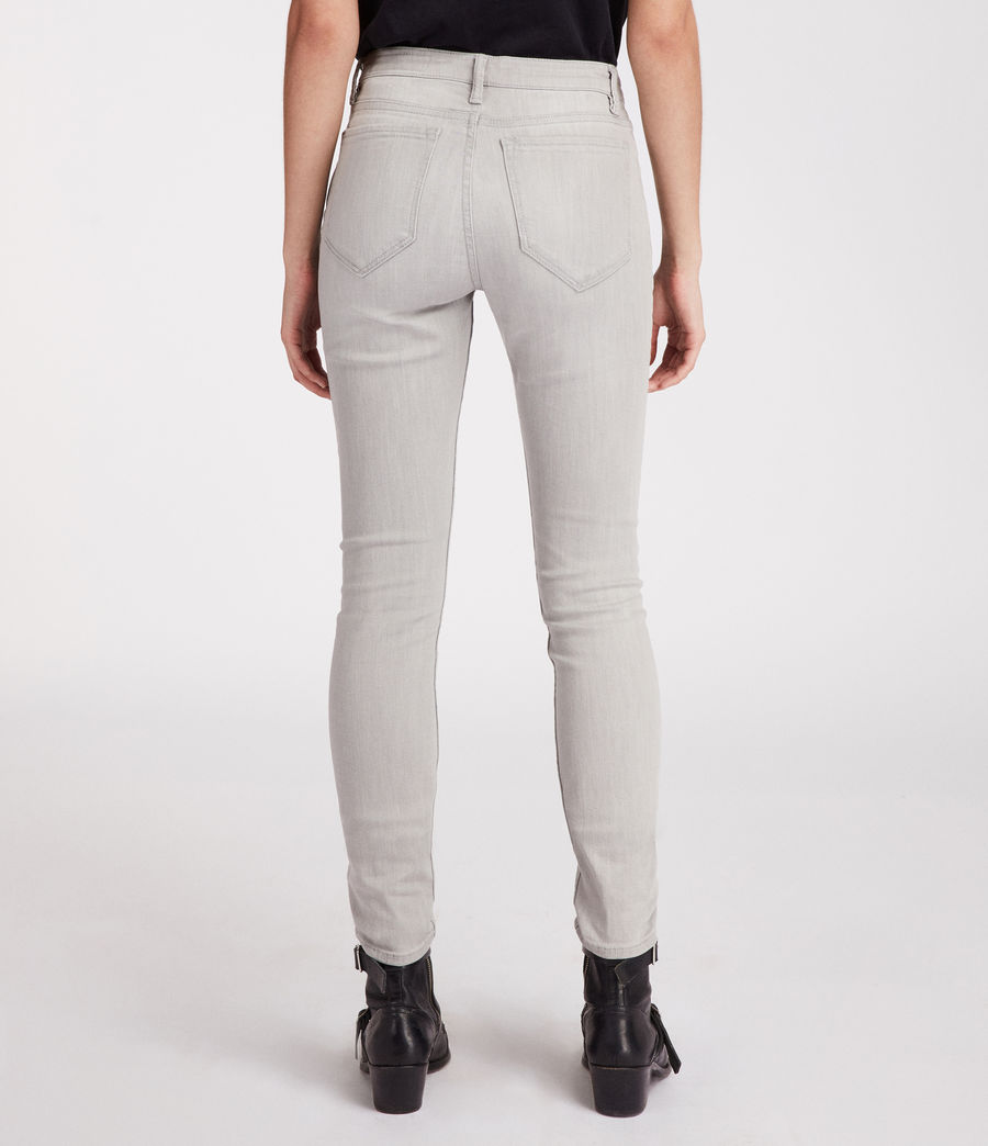 Womens Stilt Vintage High Waisted Jeans (light_grey) - Image 5