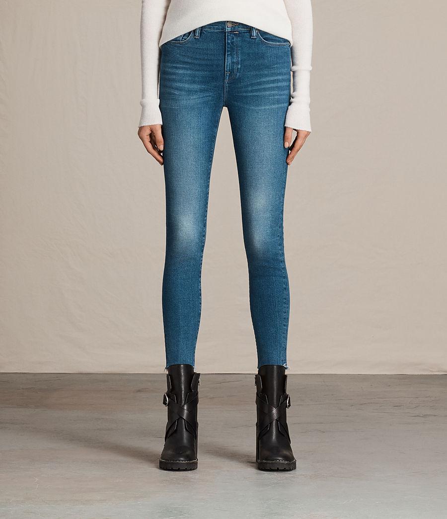 Women's Eve Ankle Jeans (vintage_indigo_blu) - Image 1