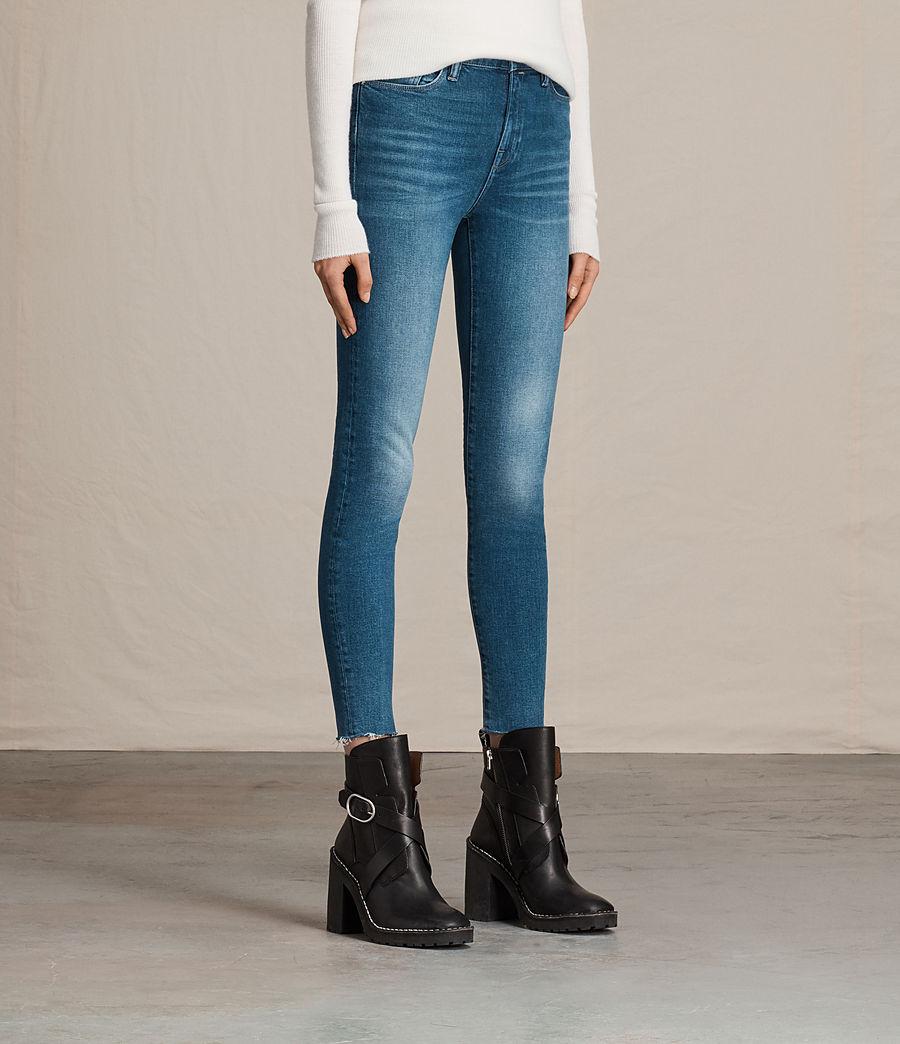Women's Eve Ankle Jeans (vintage_indigo_blu) - Image 3