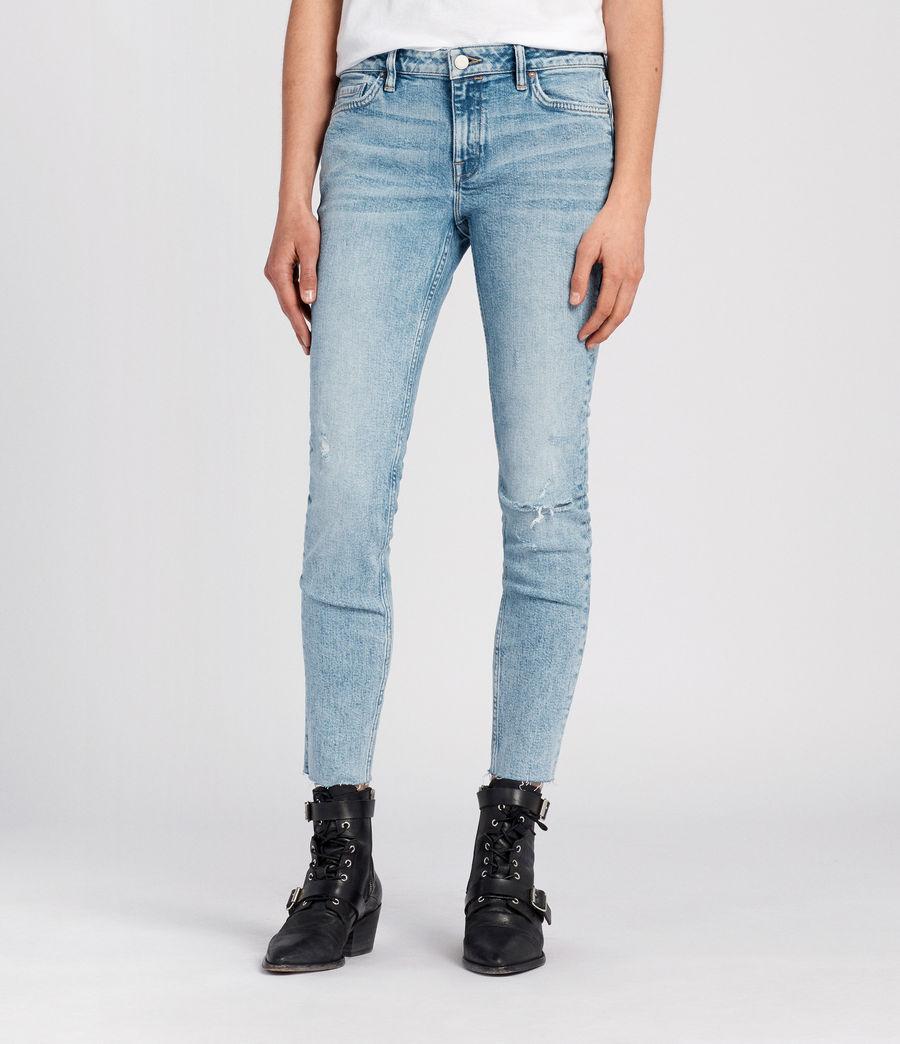 Women's Lola Cropped Jeans (light_indigo_blue) - Image 1