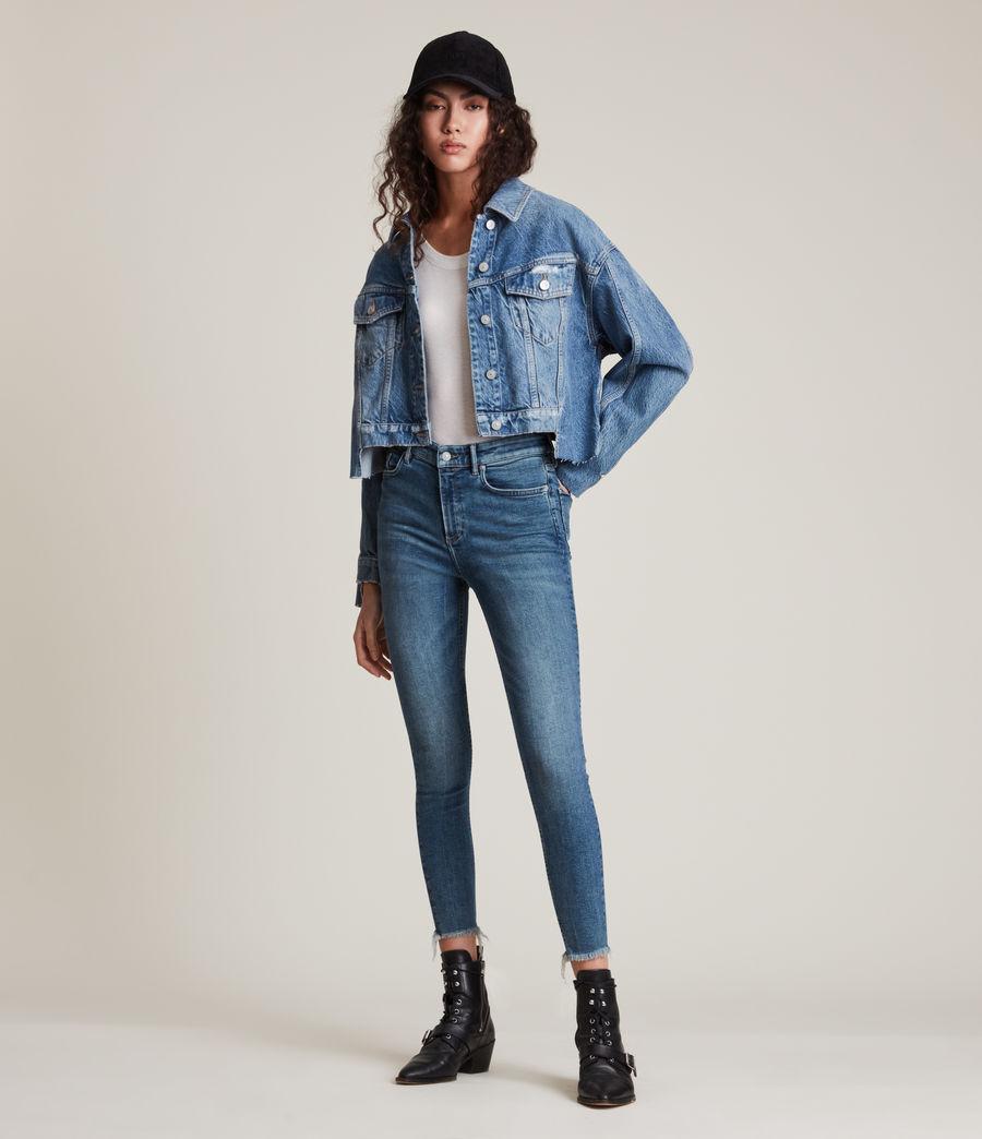 Women's Dax High-Rise Sizeme Superstretch Skinny Jeans (vintage_indigo) - Image 1