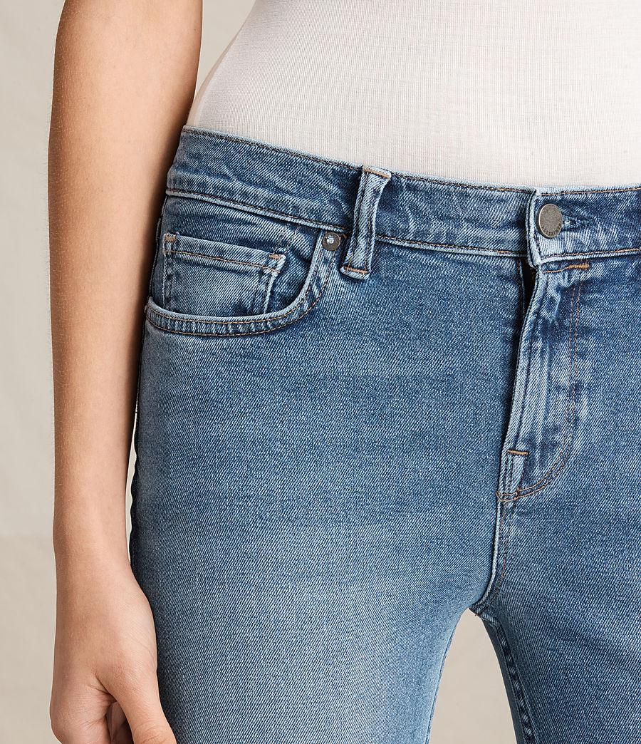 Damen Zoe Cropped-Jeans mit Bootcut (light_indigo_blue) - Image 2
