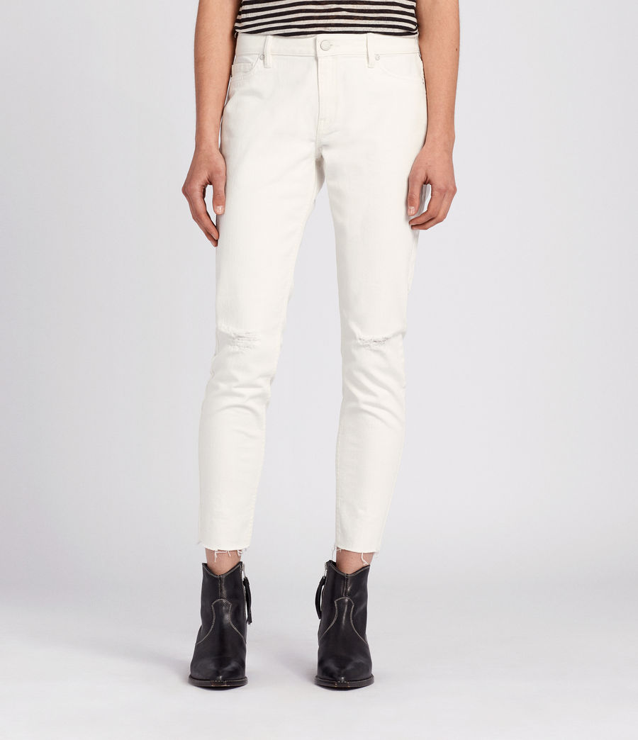 Womens Lola Cropped Jeans (chalk_white) - Image 1