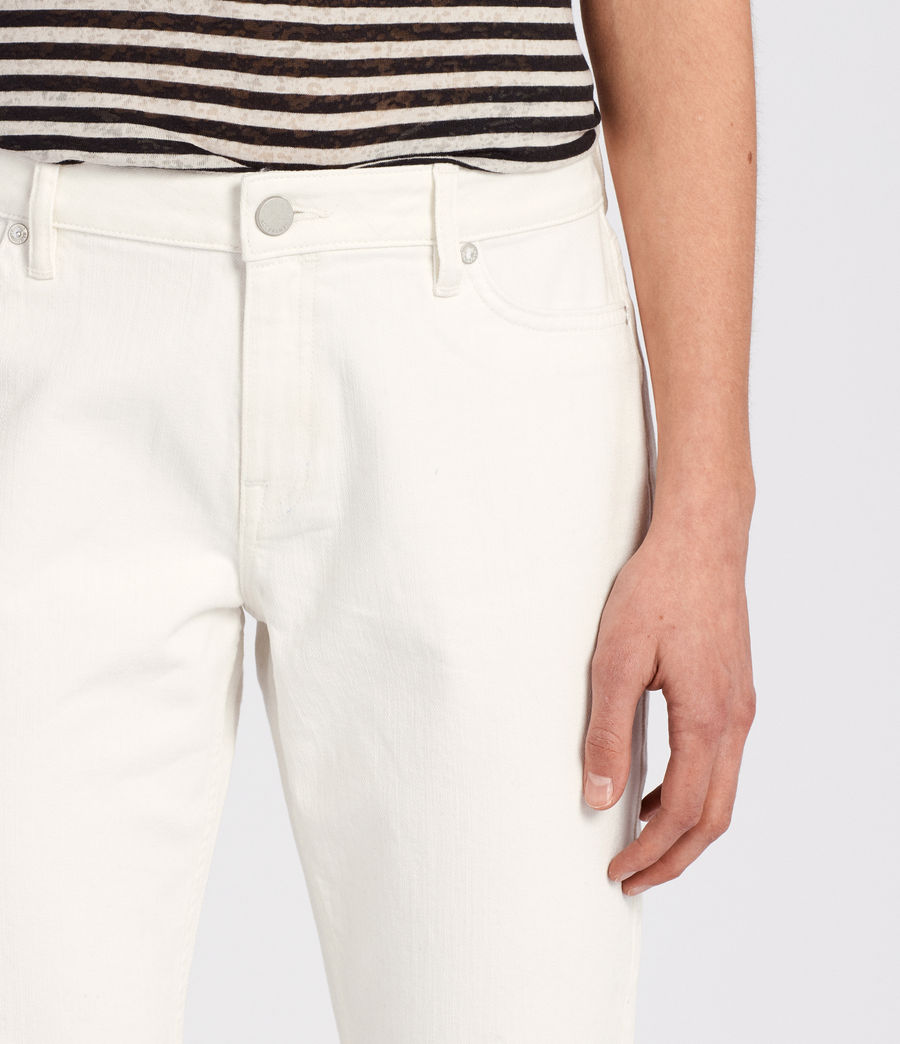 Womens Lola Cropped Jeans (chalk_white) - Image 2