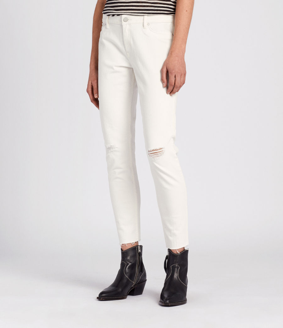 Womens Lola Cropped Jeans (chalk_white) - Image 3