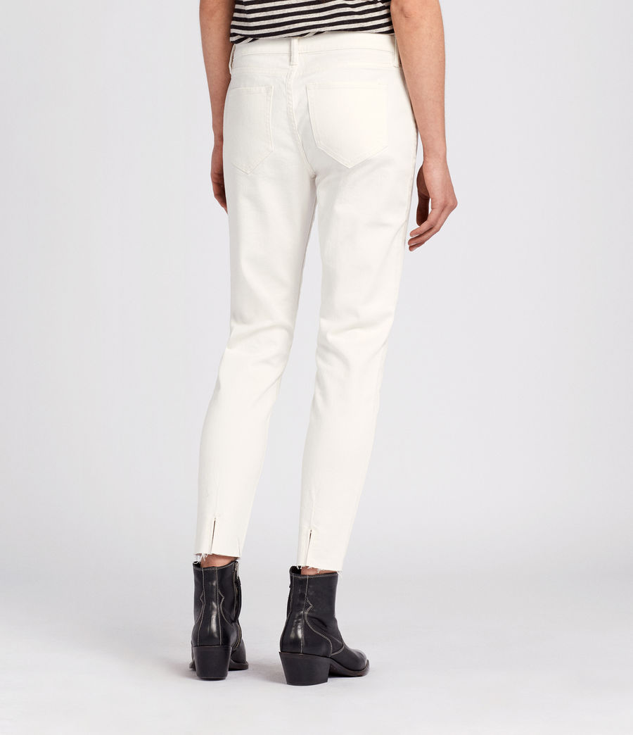 Womens Lola Cropped Jeans (chalk_white) - Image 4