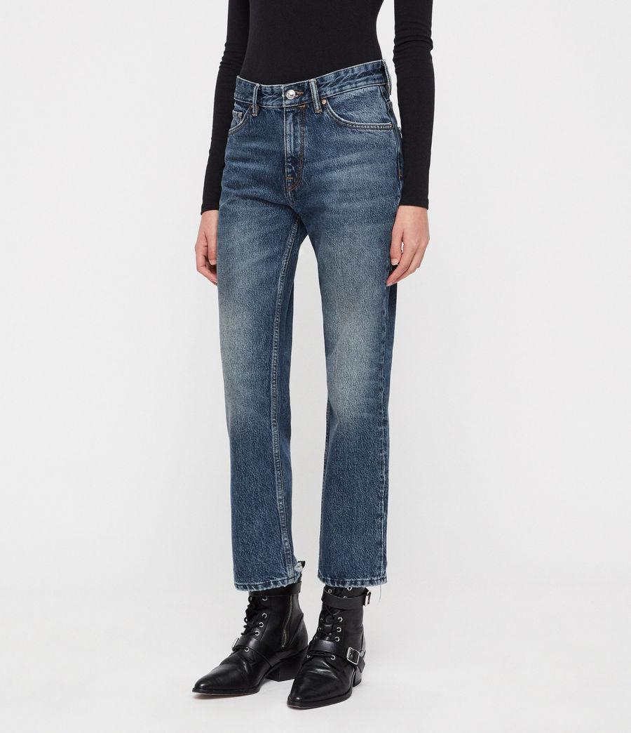 Womens Ava Straight Jeans (vintage_indigo_blu) - Image 1