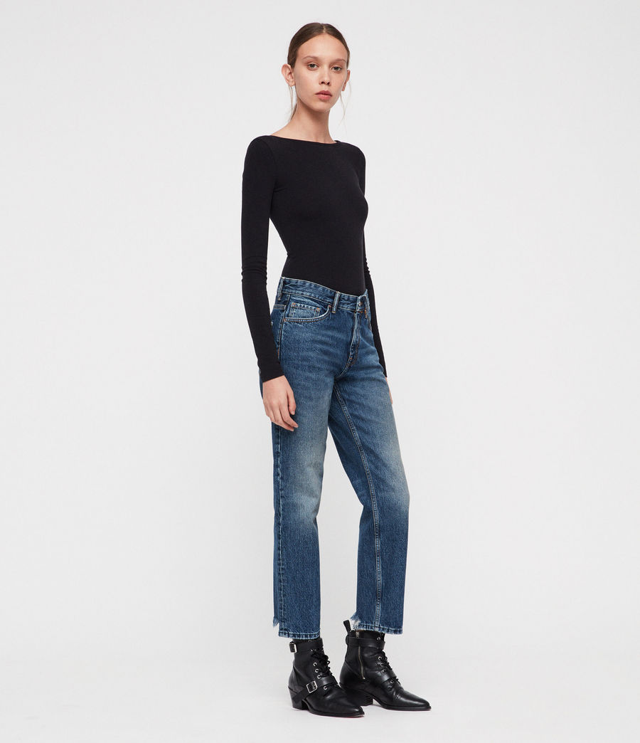 Womens Ava Straight Jeans (vintage_indigo_blu) - Image 4