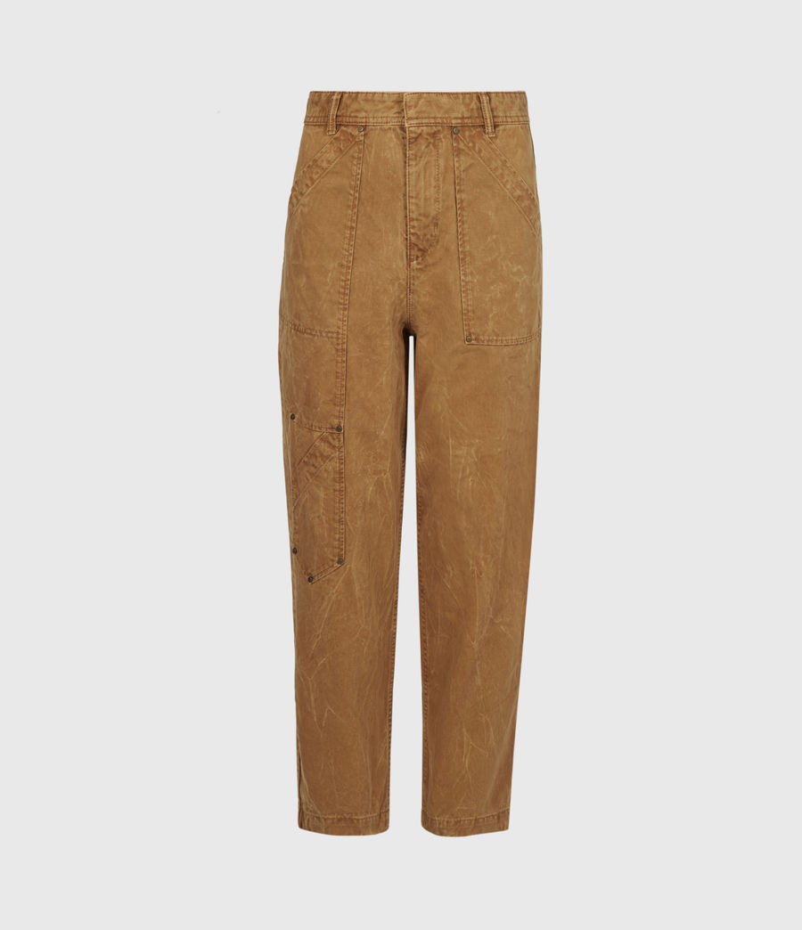 Women's Dessa High-Rise Cropped Tapered Trousers (caramel) - Image 2