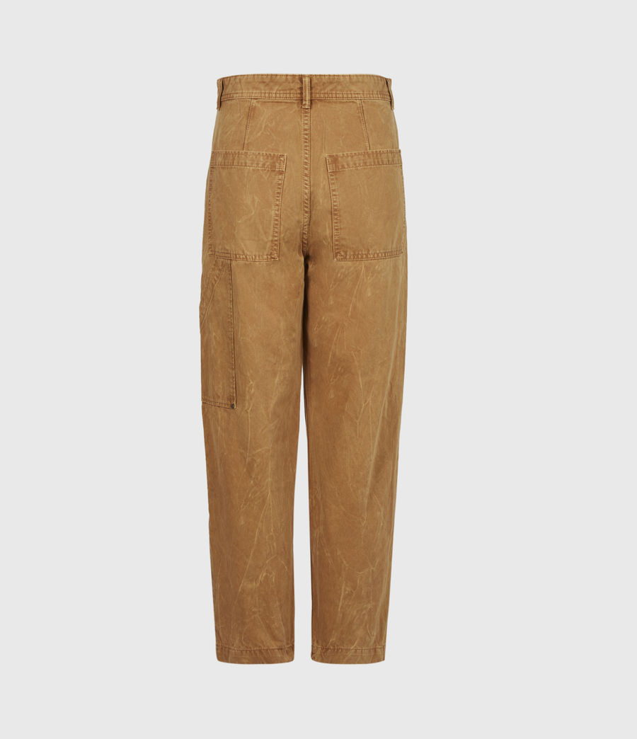 Women's Dessa High-Rise Cropped Tapered Trousers (caramel) - Image 3