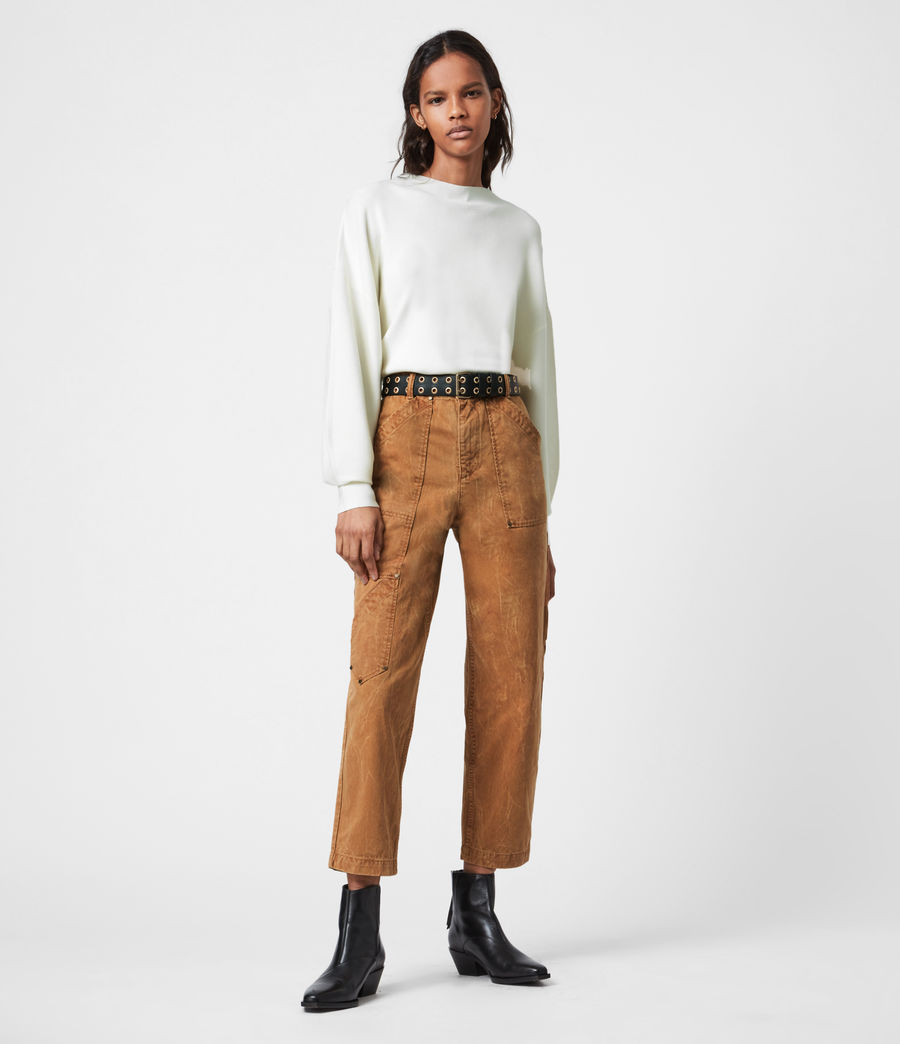 Women's Dessa High-Rise Cropped Tapered Trousers (caramel) - Image 4