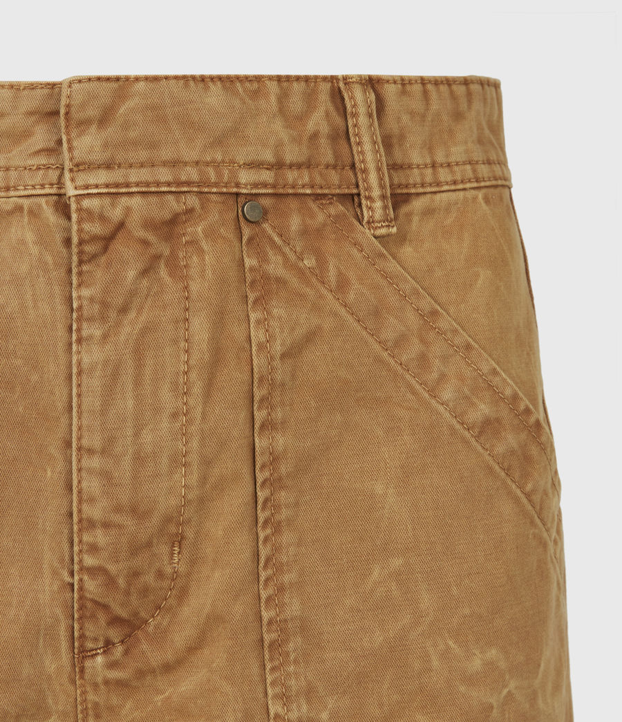 Women's Dessa High-Rise Cropped Tapered Trousers (caramel) - Image 5