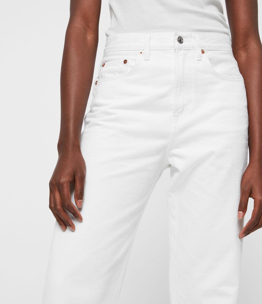 Damen Mari Boys Hochtaillierte Boyfriend Jeans, Weiß (white) - Image 1