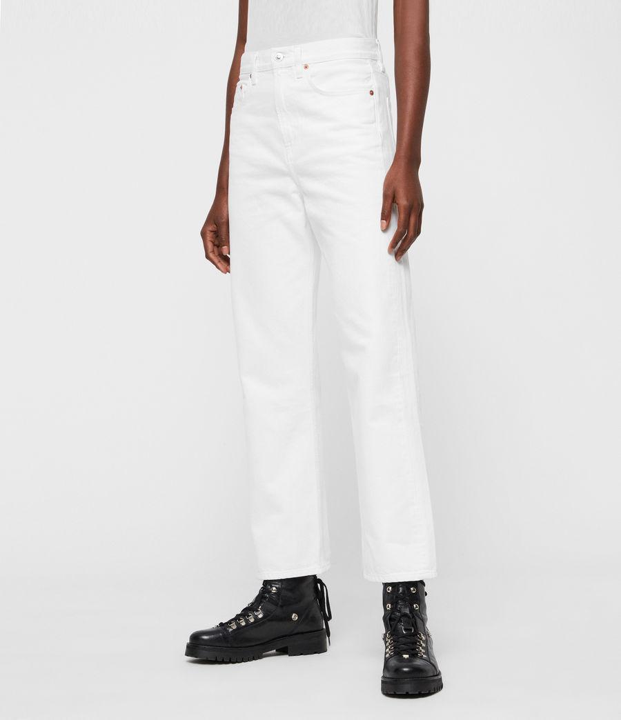 Damen Mari Boys Hochtaillierte Boyfriend Jeans, Weiß (white) - Image 4