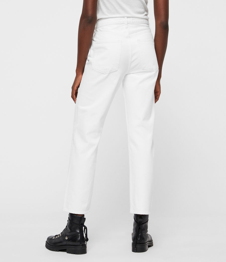 Womens Mari High-Rise Cropped Boyfriend Jeans, White (white) - Image 5