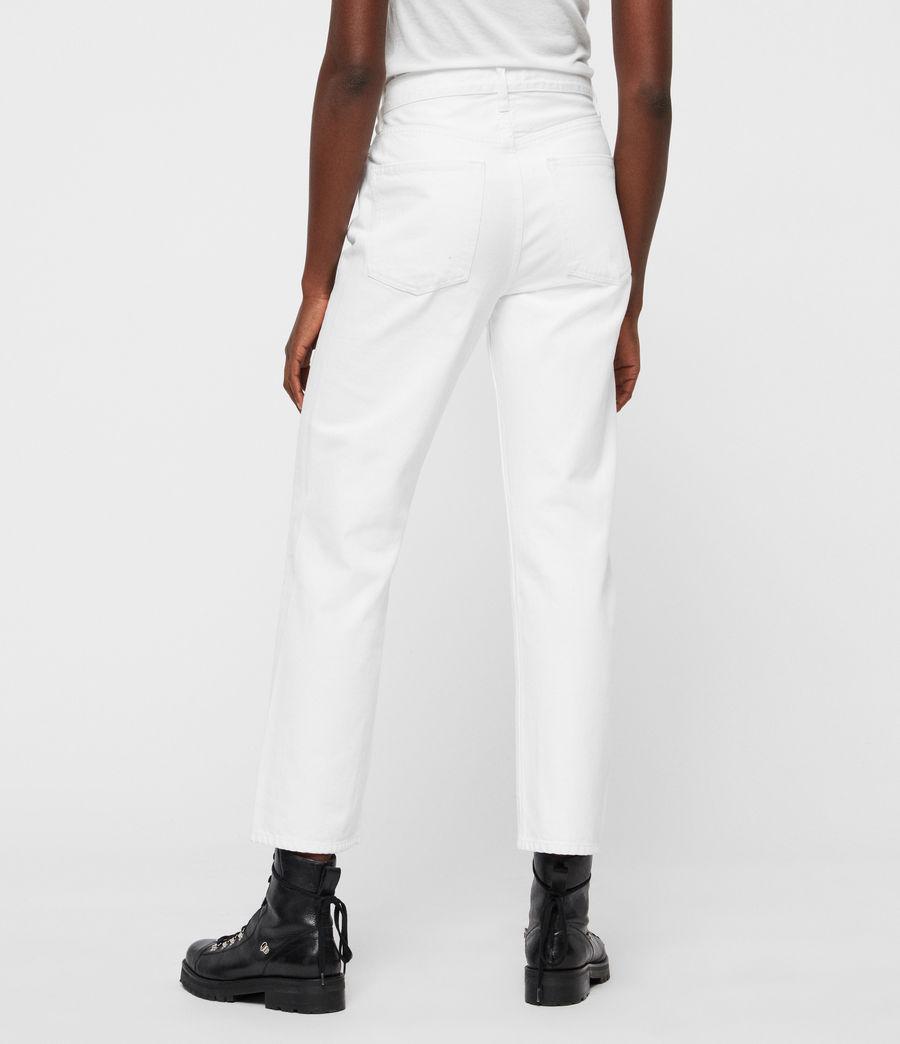 Femmes Jean Boyfriend Mari Taille Haute, Blanc Immaculé (white) - Image 5