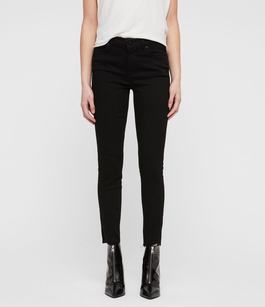Women's Grace Ankle Fray Skinny Jeans (black) - Image 1