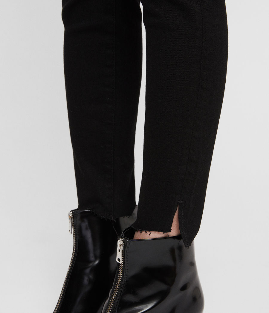 Women's Grace Ankle Fray Skinny Jeans (black) - Image 2