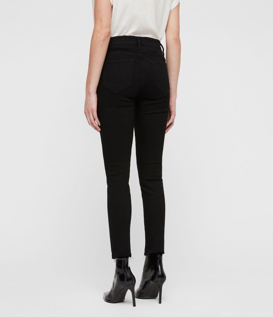 Women's Grace Ankle Fray Skinny Jeans (black) - Image 5