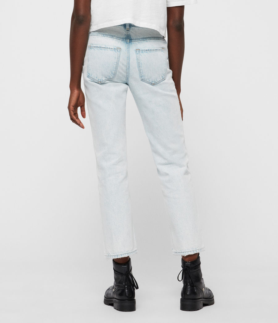 Women's Ava Acid Cropped High-Rise Straight Jeans, Light Indigo Blue (light_indigo_blue) - Image 5