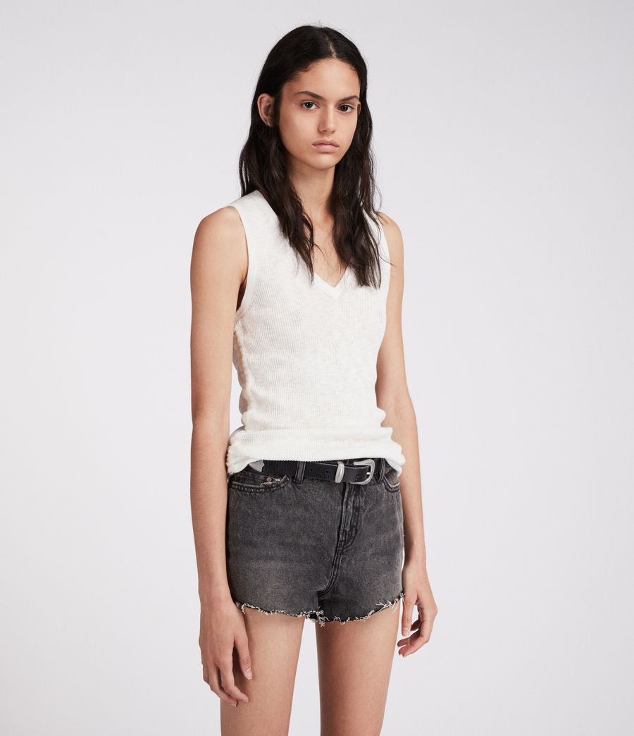 Damen Nyla Hochtaillierte Jeans-Shorts (washed_black) - Image 3