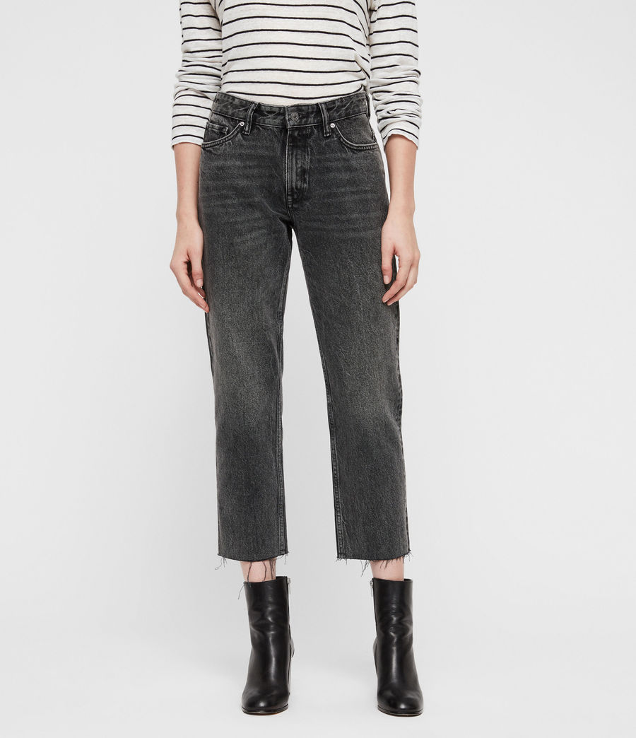 Mujer Jeans Rectos Ava (vintage_black) - Image 1
