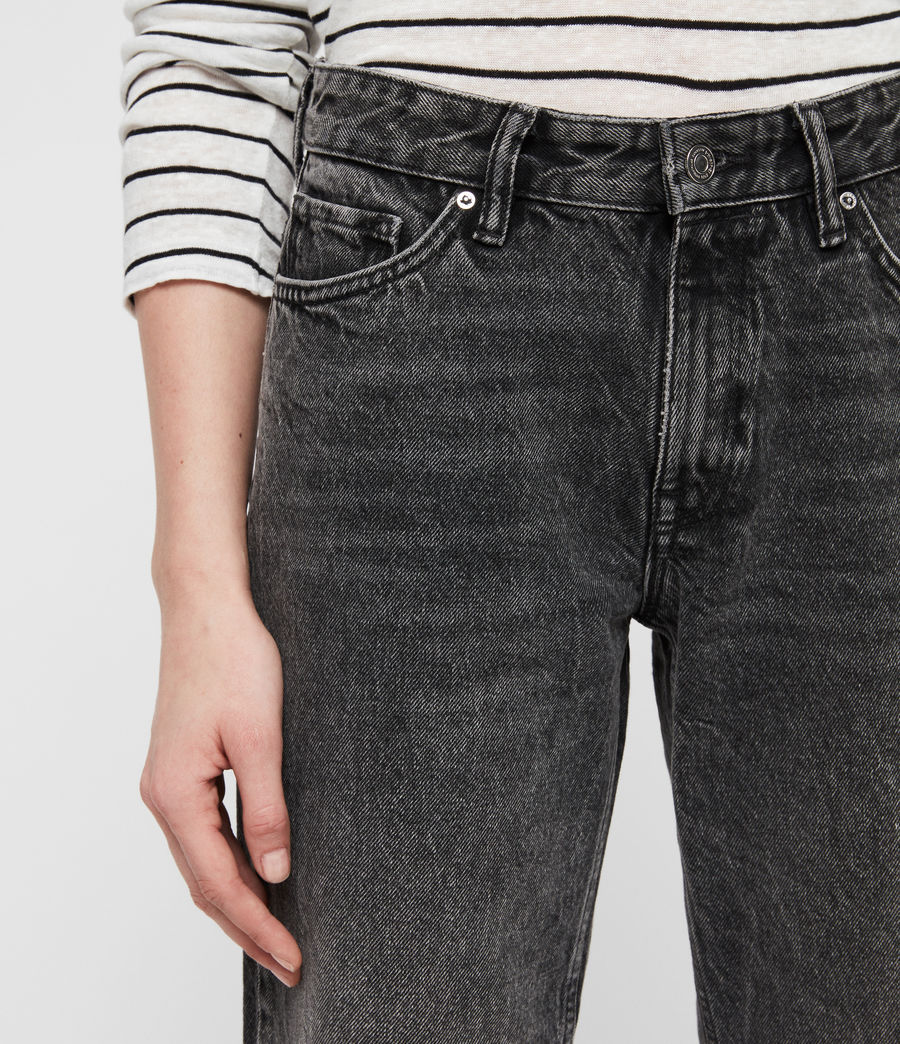 Women's Ava Straight Jeans (vintage_black) - Image 3