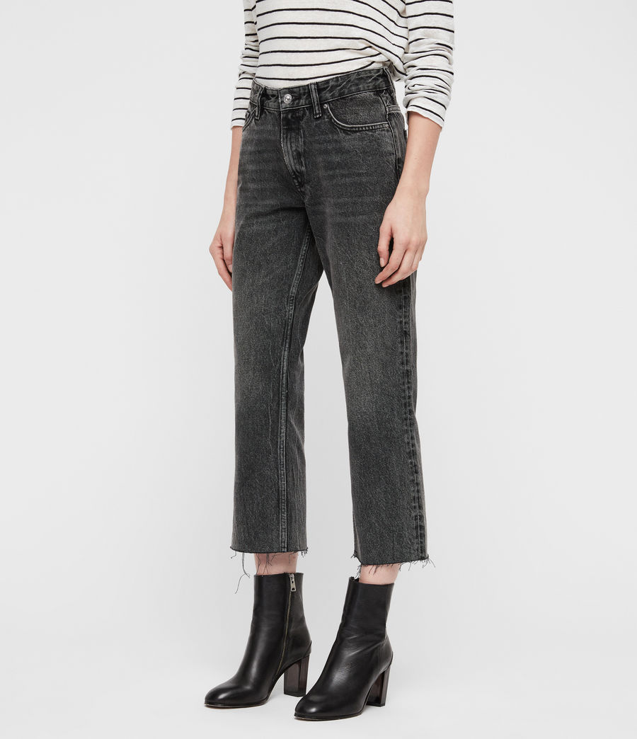 Women's Ava Straight Jeans (vintage_black) - Image 4