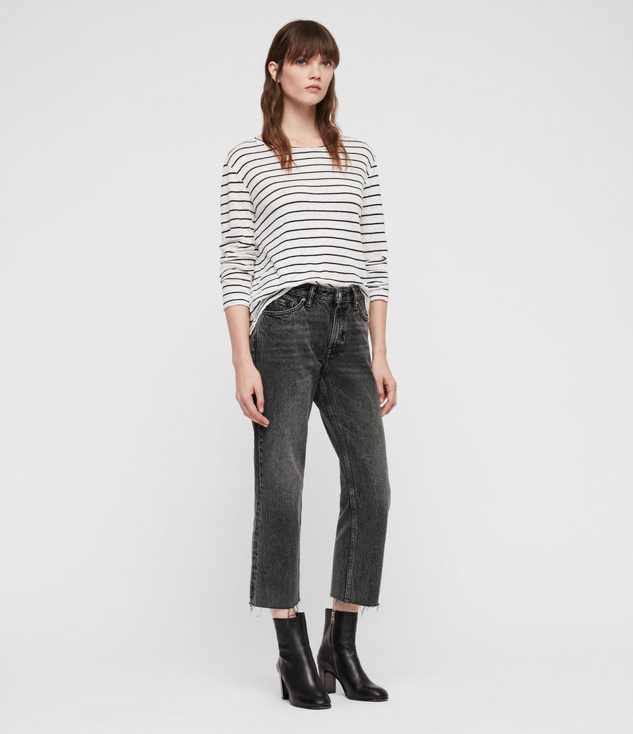 Women's Ava Straight Jeans (vintage_black) - Image 5