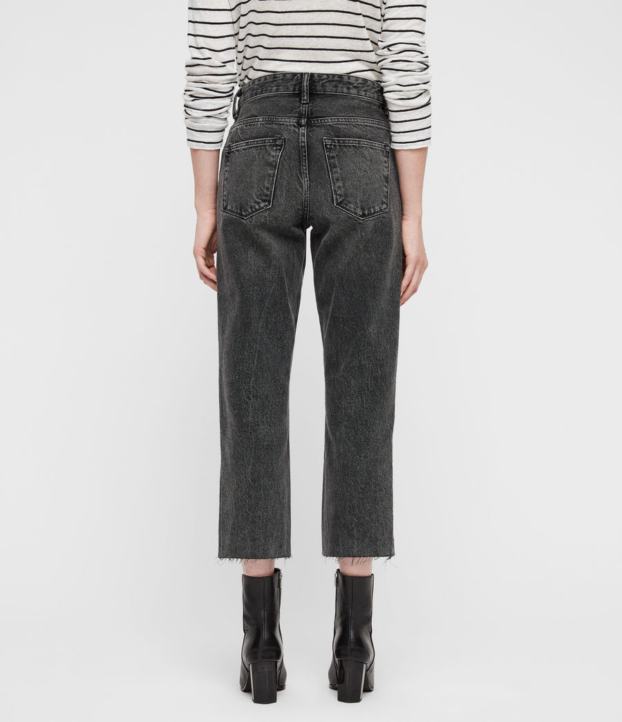 Women's Ava Straight Jeans (vintage_black) - Image 6