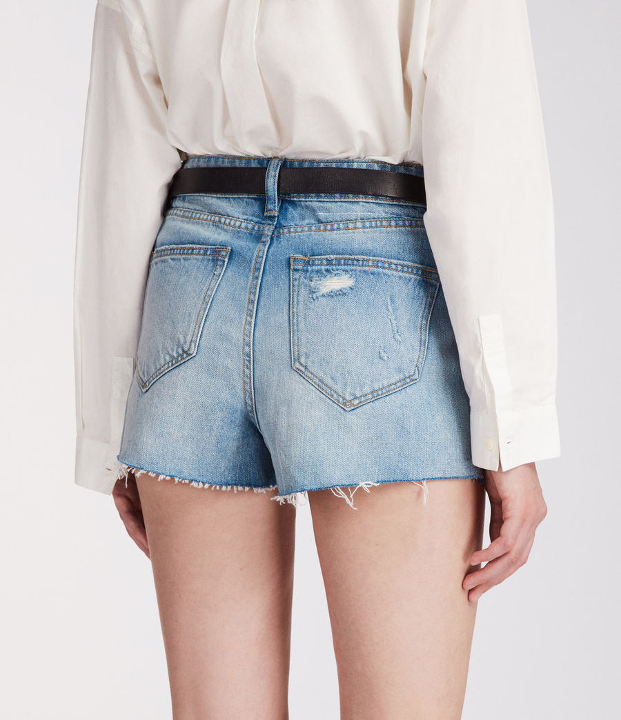 Womens Nyla High-Waisted Shorts (light_indigo_blue) - Image 5
