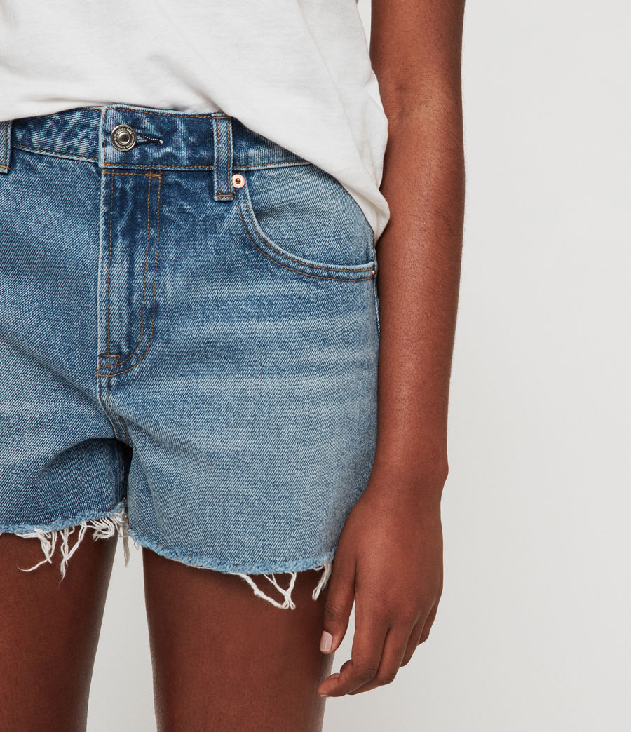 Womens Lexi High-Rise Denim Shorts (light_indigo_blue) - Image 2