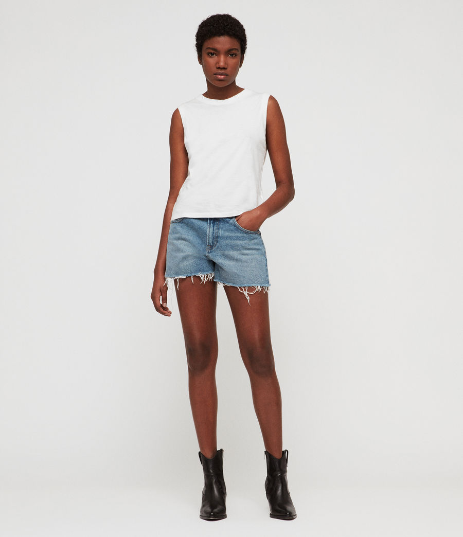 Womens Lexi High-Rise Denim Shorts (light_indigo_blue) - Image 3