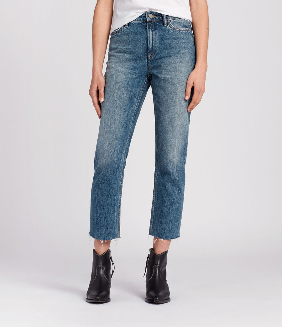 Womens Ella Cropped Jeans (mid_indigo_blue) - Image 1