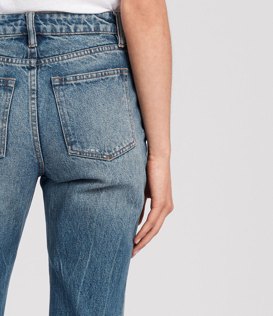Womens Ella Cropped Jeans (mid_indigo_blue) - Image 2