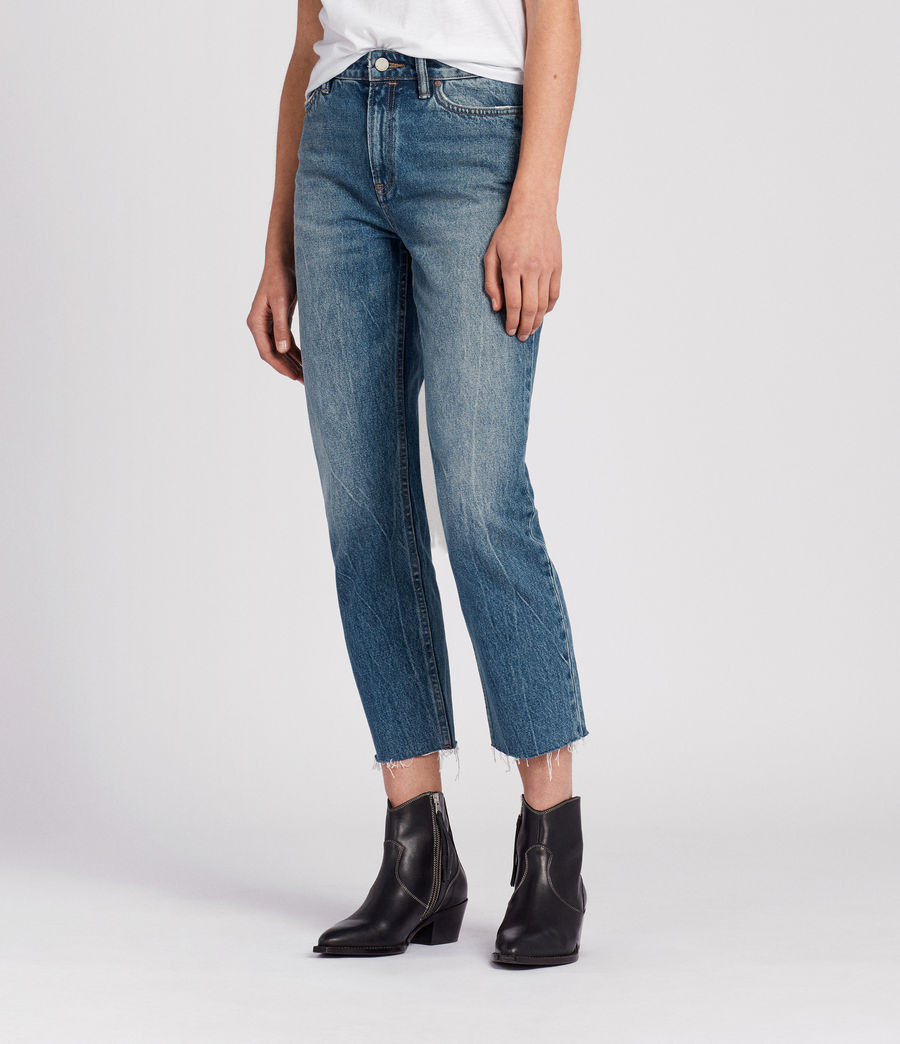 Womens Ella Cropped Jeans (mid_indigo_blue) - Image 3