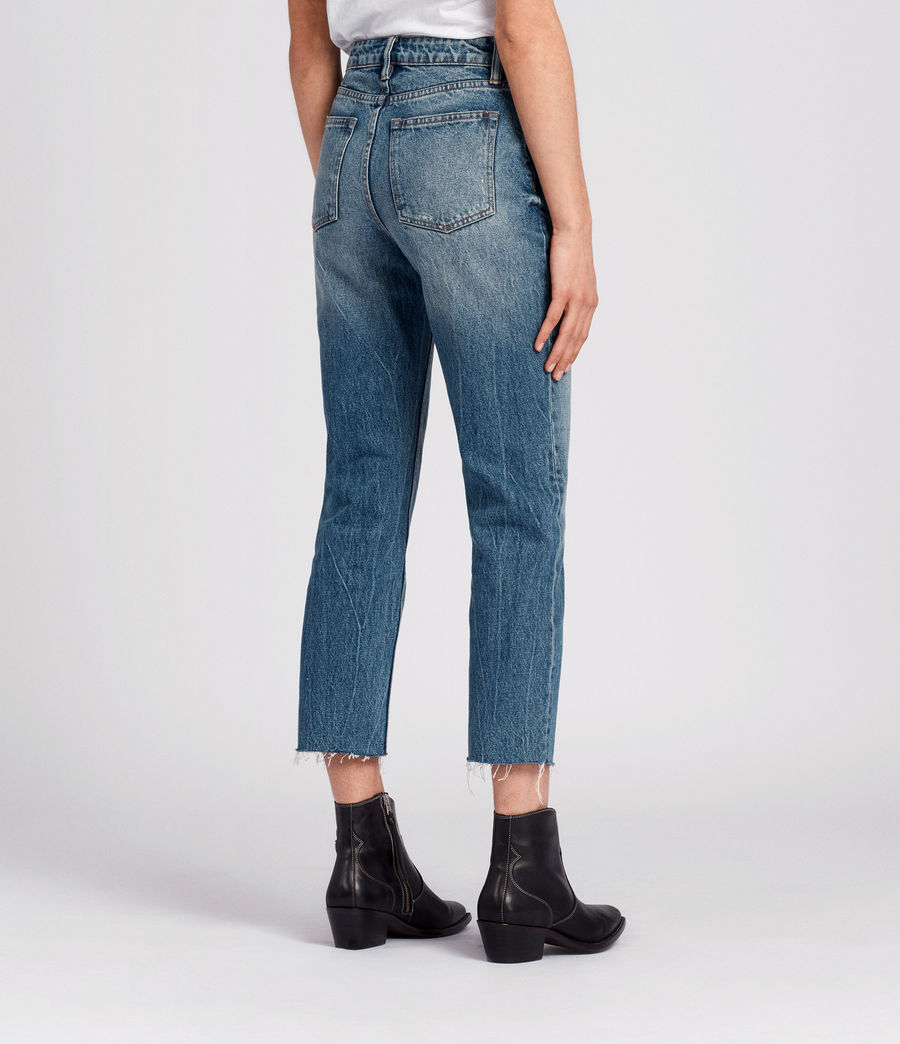 Womens Ella Cropped Jeans (mid_indigo_blue) - Image 4