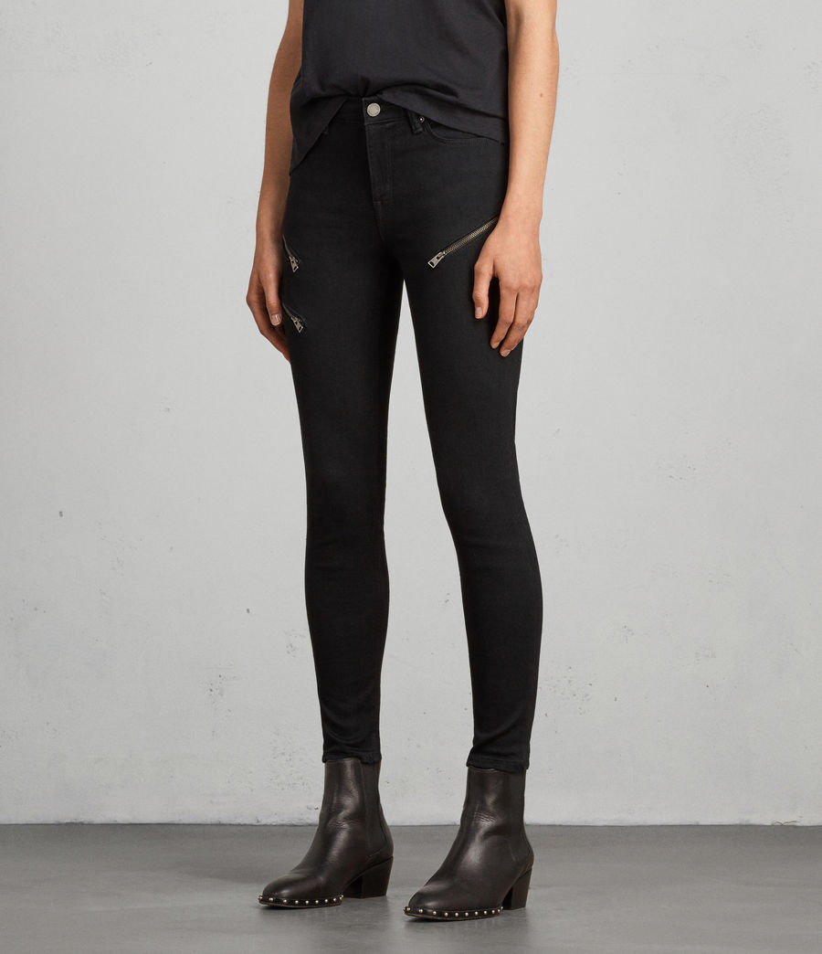 Mujer Vaqueros Grace Zip Ankle (black) - Image 3